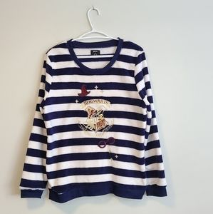 HARRY POTTER HOGWARTS Love to Lounge Fuzzy Sweater size 6-8
